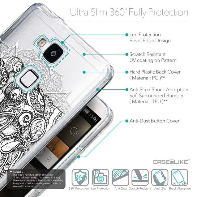Details in English - CASEiLIKE Huawei Ascend Mate 7 back cover Mandala Art 2300