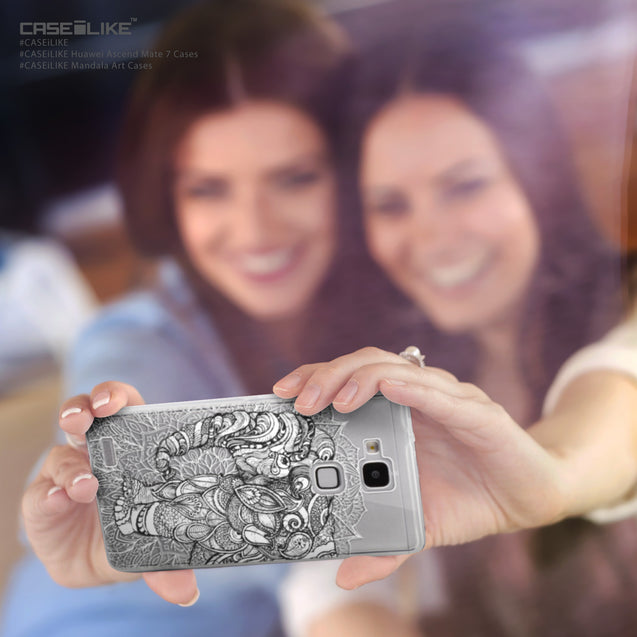 Share - CASEiLIKE Huawei Ascend Mate 7 back cover Mandala Art 2300