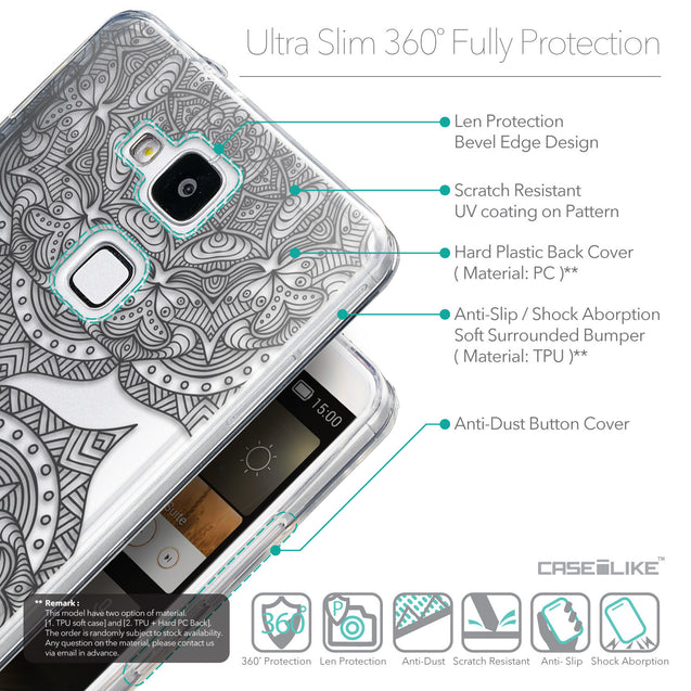 Details in English - CASEiLIKE Huawei Ascend Mate 7 back cover Mandala Art 2304