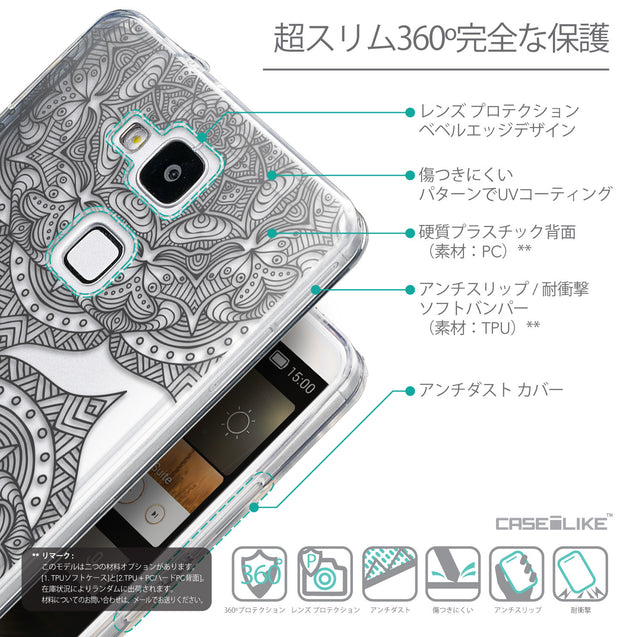 Details in Japanese - CASEiLIKE Huawei Ascend Mate 7 back cover Mandala Art 2304