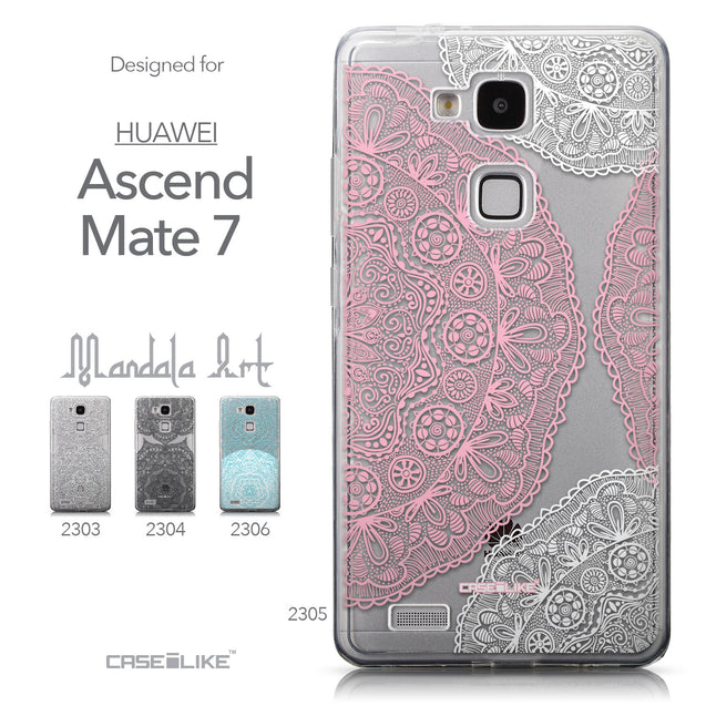 Collection - CASEiLIKE Huawei Ascend Mate 7 back cover Mandala Art 2305