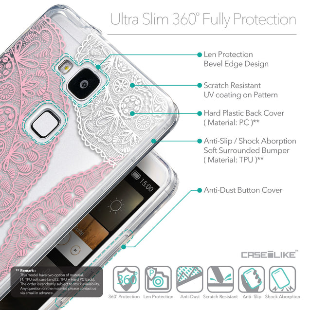 Details in English - CASEiLIKE Huawei Ascend Mate 7 back cover Mandala Art 2305