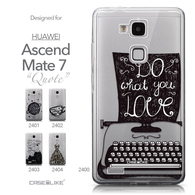 Collection - CASEiLIKE Huawei Ascend Mate 7 back cover Quote 2400