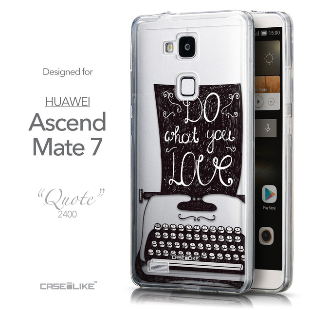 Front & Side View - CASEiLIKE Huawei Ascend Mate 7 back cover Quote 2400