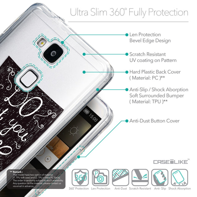 Details in English - CASEiLIKE Huawei Ascend Mate 7 back cover Quote 2400