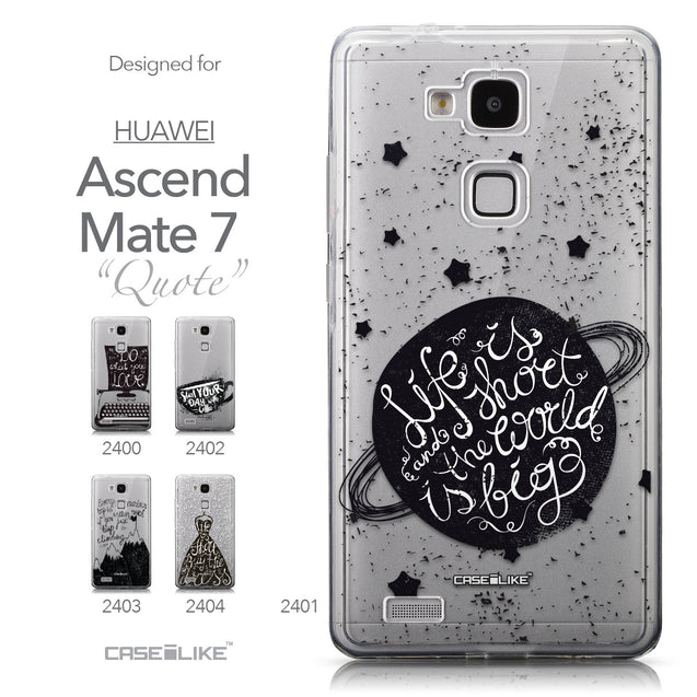 Collection - CASEiLIKE Huawei Ascend Mate 7 back cover Quote 2401