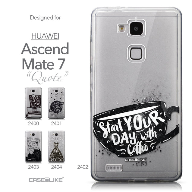 Collection - CASEiLIKE Huawei Ascend Mate 7 back cover Quote 2402