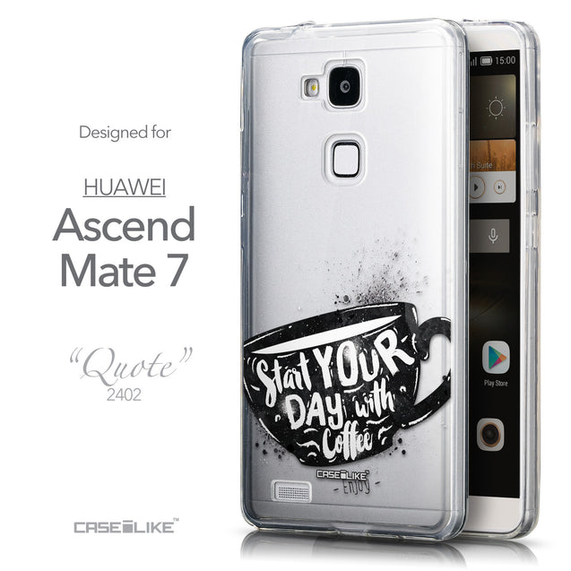 Front & Side View - CASEiLIKE Huawei Ascend Mate 7 back cover Quote 2402
