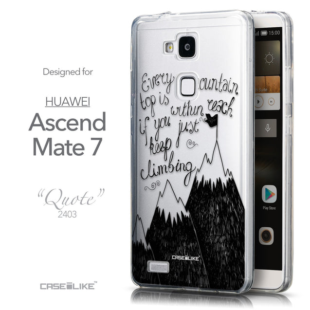 Front & Side View - CASEiLIKE Huawei Ascend Mate 7 back cover Indian Tribal Theme Pattern 2053
