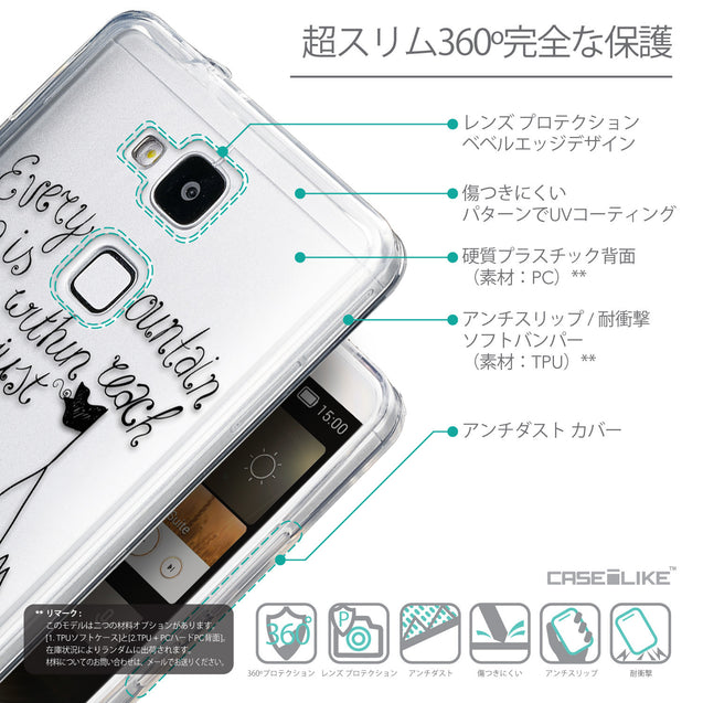 Details in Japanese - CASEiLIKE Huawei Ascend Mate 7 back cover Indian Tribal Theme Pattern 2053