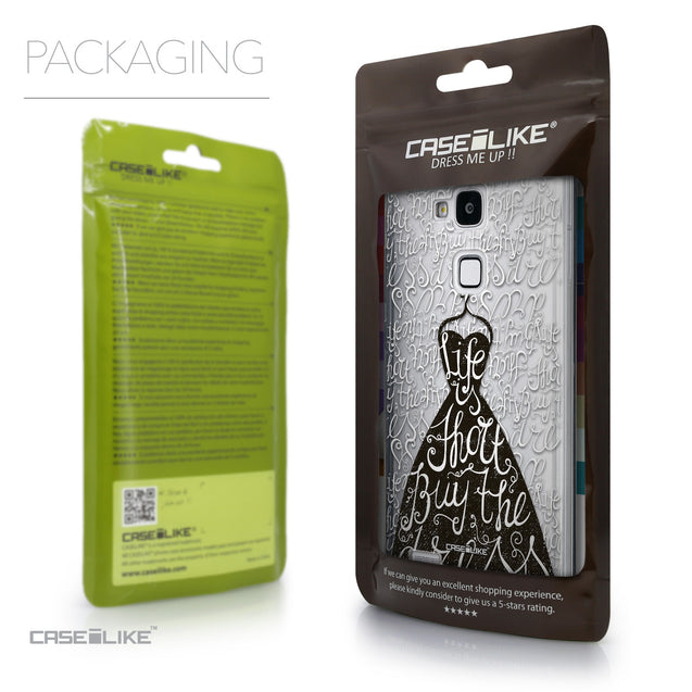 Packaging - CASEiLIKE Huawei Ascend Mate 7 back cover Indian Tribal Theme Pattern 2053