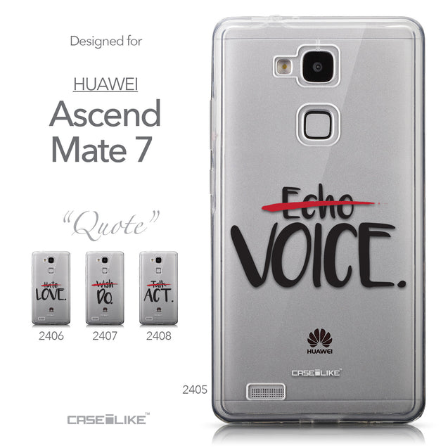 Collection - CASEiLIKE Huawei Ascend Mate 7 back cover Quote 2405