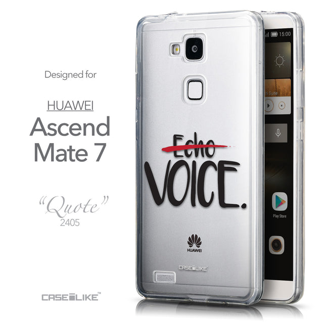 Front & Side View - CASEiLIKE Huawei Ascend Mate 7 back cover Quote 2405