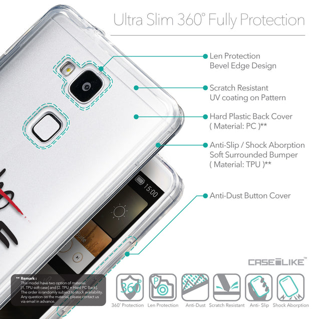 Details in English - CASEiLIKE Huawei Ascend Mate 7 back cover Quote 2405