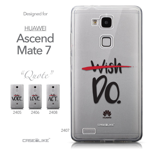 Collection - CASEiLIKE Huawei Ascend Mate 7 back cover Quote 2407