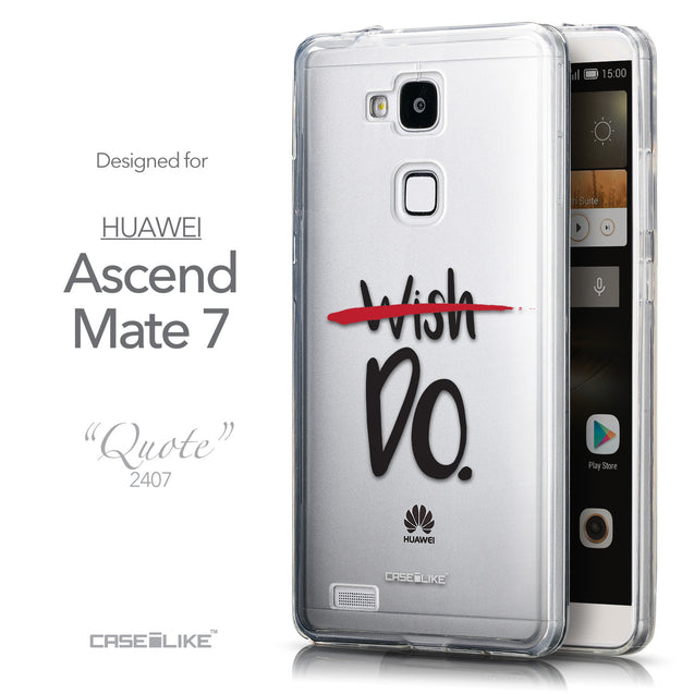 Front & Side View - CASEiLIKE Huawei Ascend Mate 7 back cover Quote 2407