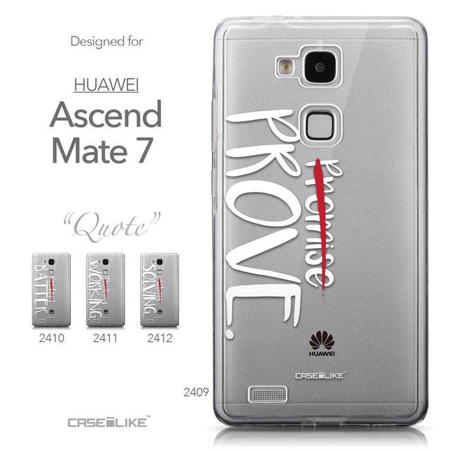Collection - CASEiLIKE Huawei Ascend Mate 7 back cover Quote 2409