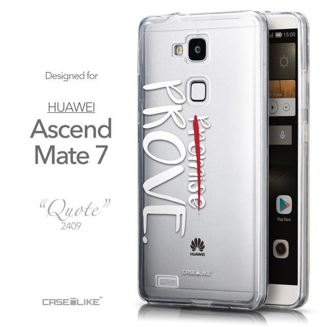 Front & Side View - CASEiLIKE Huawei Ascend Mate 7 back cover Quote 2409