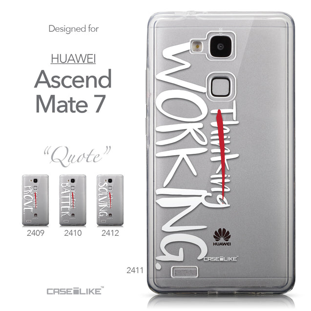 Collection - CASEiLIKE Huawei Ascend Mate 7 back cover Quote 2411