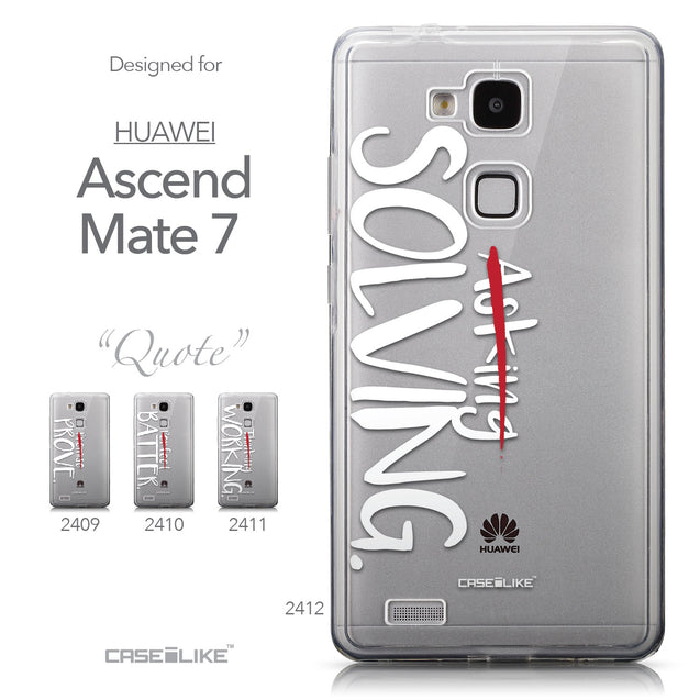 Collection - CASEiLIKE Huawei Ascend Mate 7 back cover Quote 2412