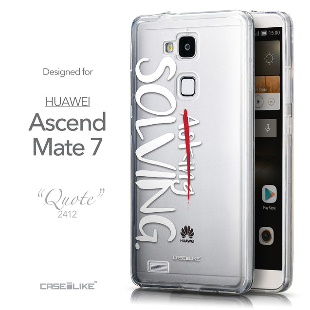 Front & Side View - CASEiLIKE Huawei Ascend Mate 7 back cover Quote 2412