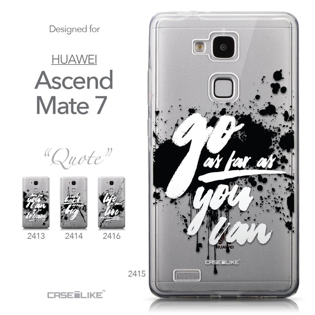 Collection - CASEiLIKE Huawei Ascend Mate 7 back cover Quote 2415