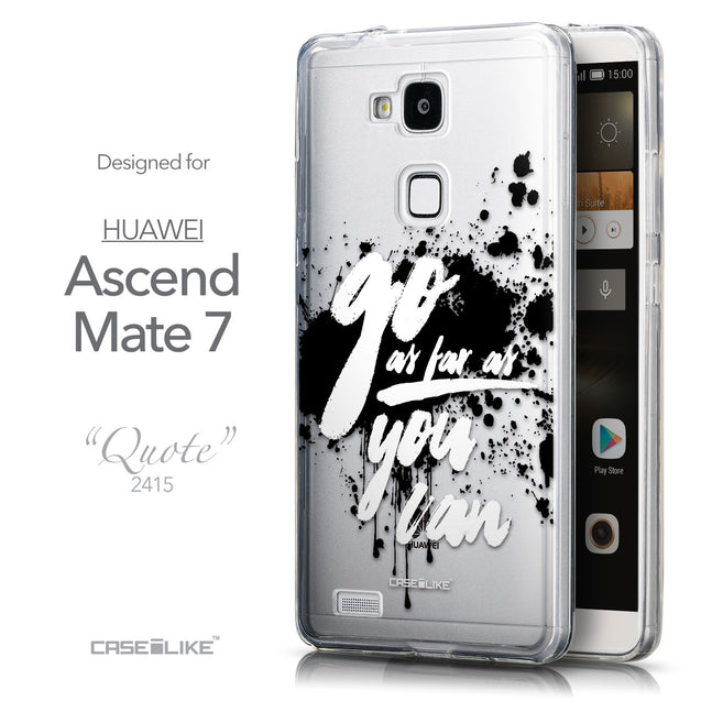 Front & Side View - CASEiLIKE Huawei Ascend Mate 7 back cover Quote 2415