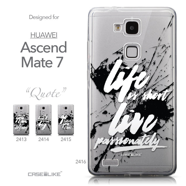 Collection - CASEiLIKE Huawei Ascend Mate 7 back cover Quote 2416