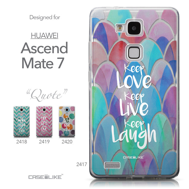 Collection - CASEiLIKE Huawei Ascend Mate 7 back cover Quote 2417