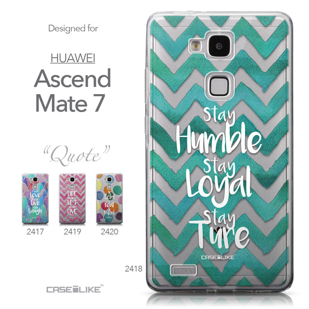 Collection - CASEiLIKE Huawei Ascend Mate 7 back cover Quote 2418