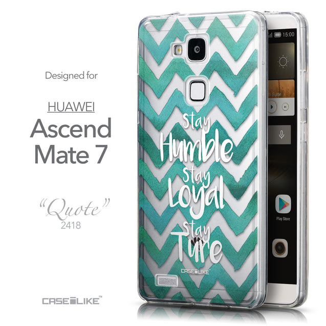 Front & Side View - CASEiLIKE Huawei Ascend Mate 7 back cover Quote 2418