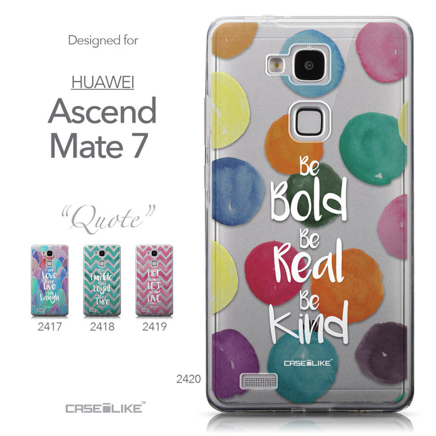 Collection - CASEiLIKE Huawei Ascend Mate 7 back cover Quote 2420