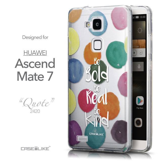 Front & Side View - CASEiLIKE Huawei Ascend Mate 7 back cover Quote 2420