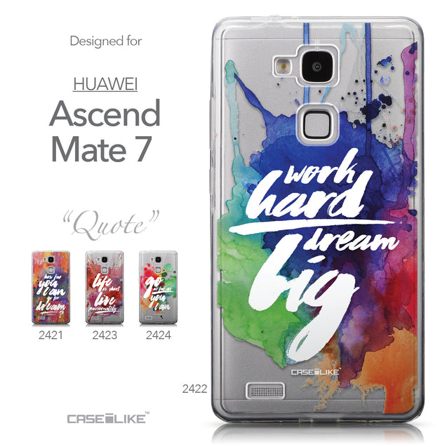 Collection - CASEiLIKE Huawei Ascend Mate 7 back cover Quote 2422