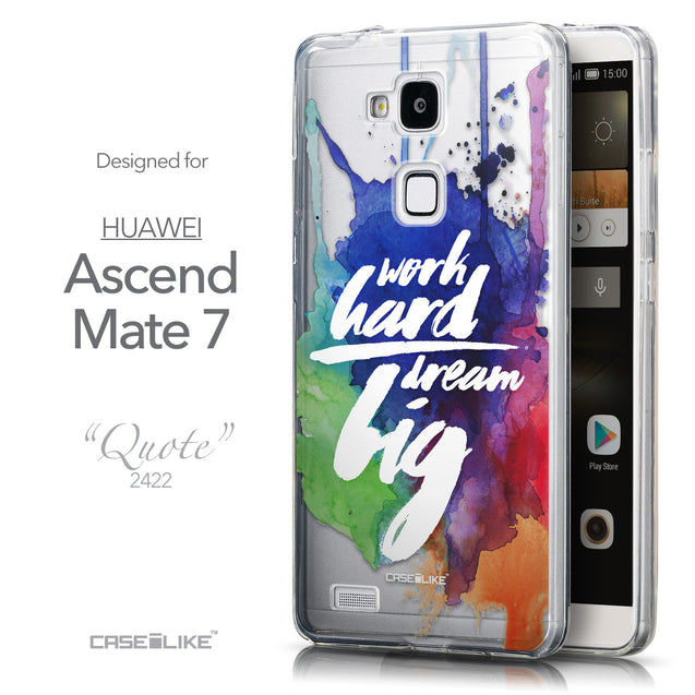Front & Side View - CASEiLIKE Huawei Ascend Mate 7 back cover Quote 2422
