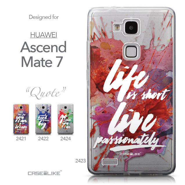 Collection - CASEiLIKE Huawei Ascend Mate 7 back cover Quote 2423