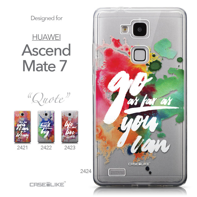Collection - CASEiLIKE Huawei Ascend Mate 7 back cover Quote 2424