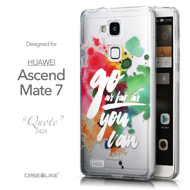 Front & Side View - CASEiLIKE Huawei Ascend Mate 7 back cover Quote 2424