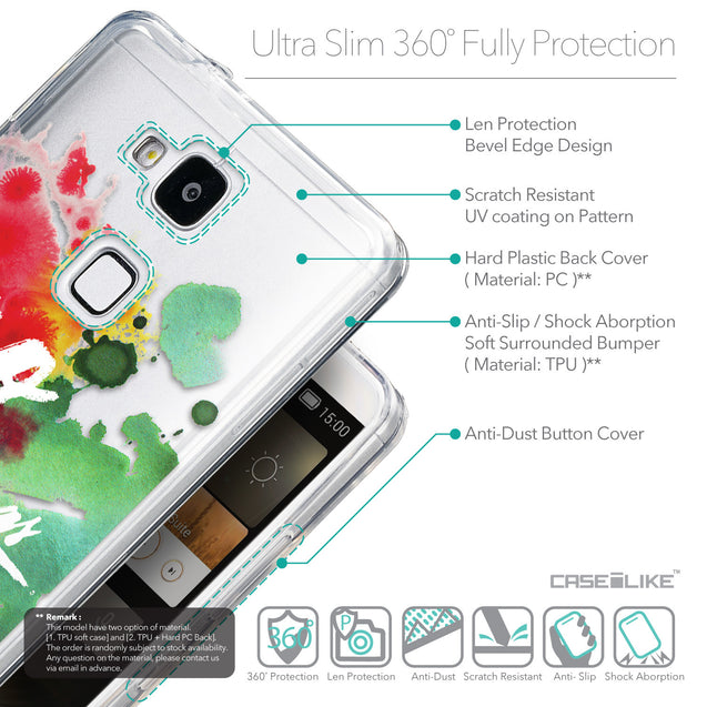 Details in English - CASEiLIKE Huawei Ascend Mate 7 back cover Quote 2424