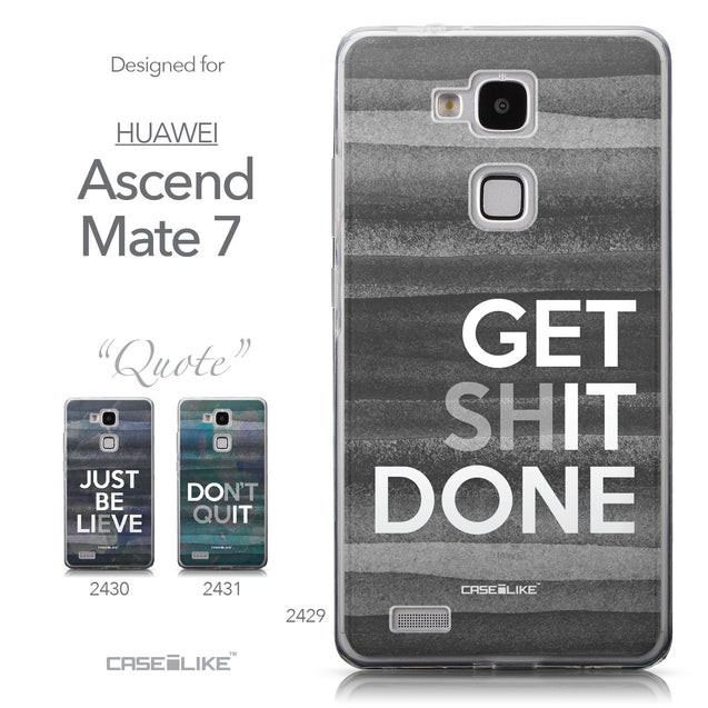 Collection - CASEiLIKE Huawei Ascend Mate 7 back cover Quote 2429