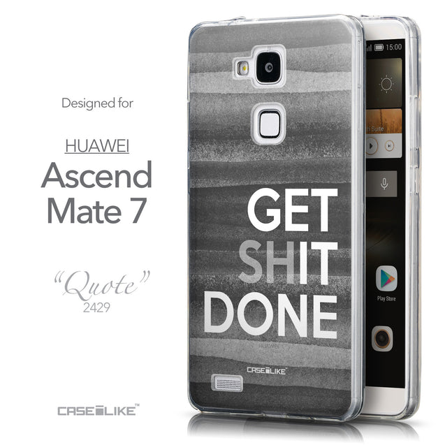 Front & Side View - CASEiLIKE Huawei Ascend Mate 7 back cover Quote 2429