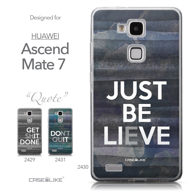 Collection - CASEiLIKE Huawei Ascend Mate 7 back cover Quote 2430