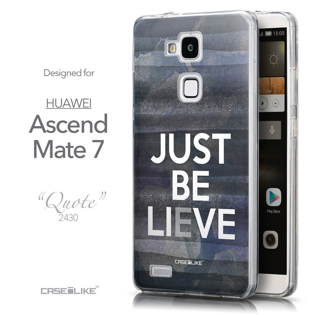 Front & Side View - CASEiLIKE Huawei Ascend Mate 7 back cover Quote 2430