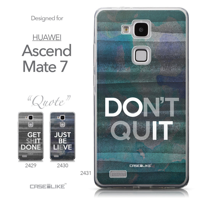 Collection - CASEiLIKE Huawei Ascend Mate 7 back cover Quote 2431