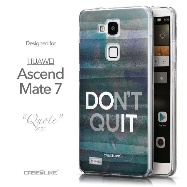 Front & Side View - CASEiLIKE Huawei Ascend Mate 7 back cover Quote 2431