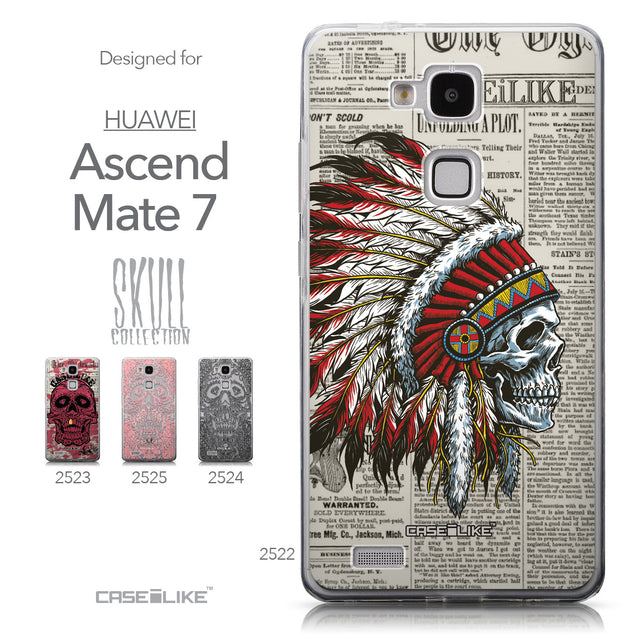 Collection - CASEiLIKE Huawei Ascend Mate 7 back cover Art of Skull 2522