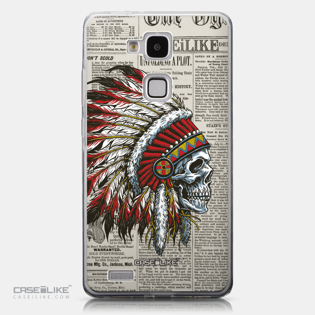 CASEiLIKE Huawei Ascend Mate 7 back cover Art of Skull 2522