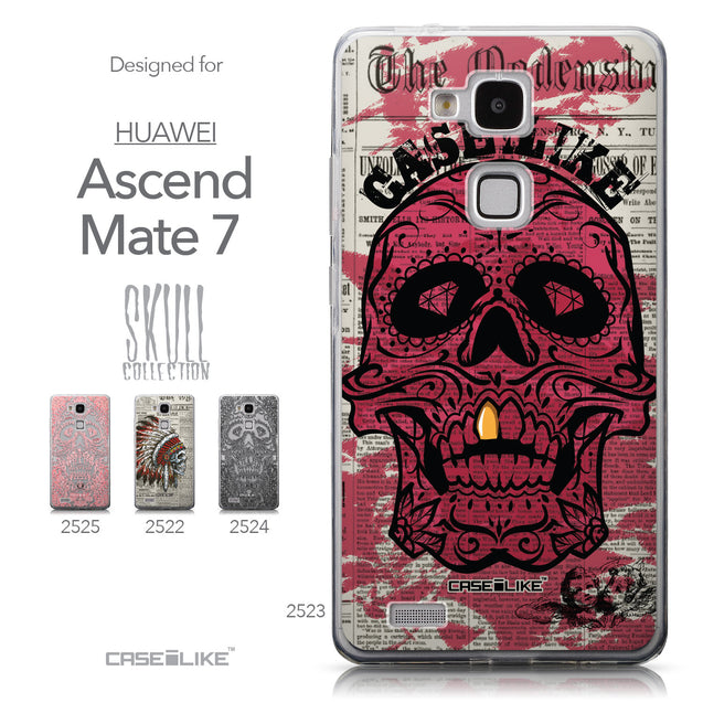 Collection - CASEiLIKE Huawei Ascend Mate 7 back cover Art of Skull 2523