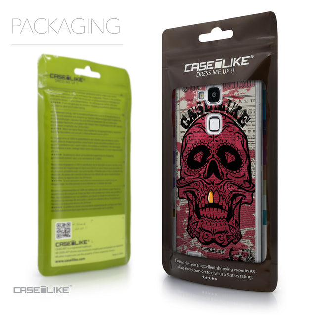 Packaging - CASEiLIKE Huawei Ascend Mate 7 back cover Art of Skull 2523