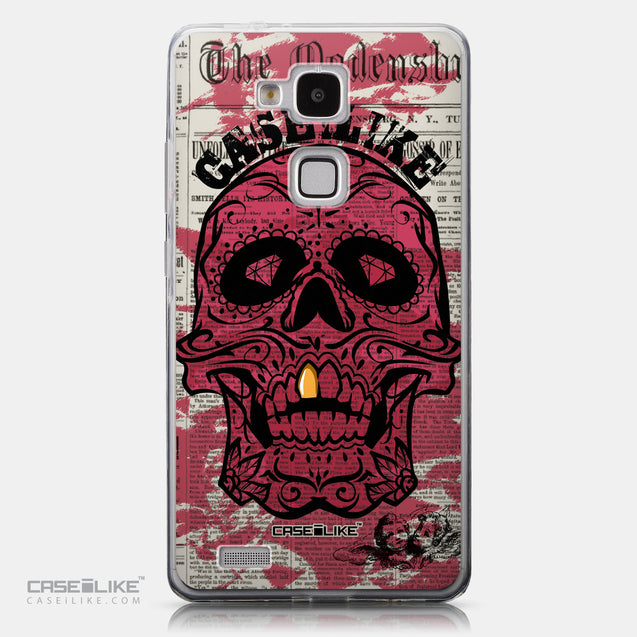 CASEiLIKE Huawei Ascend Mate 7 back cover Art of Skull 2523